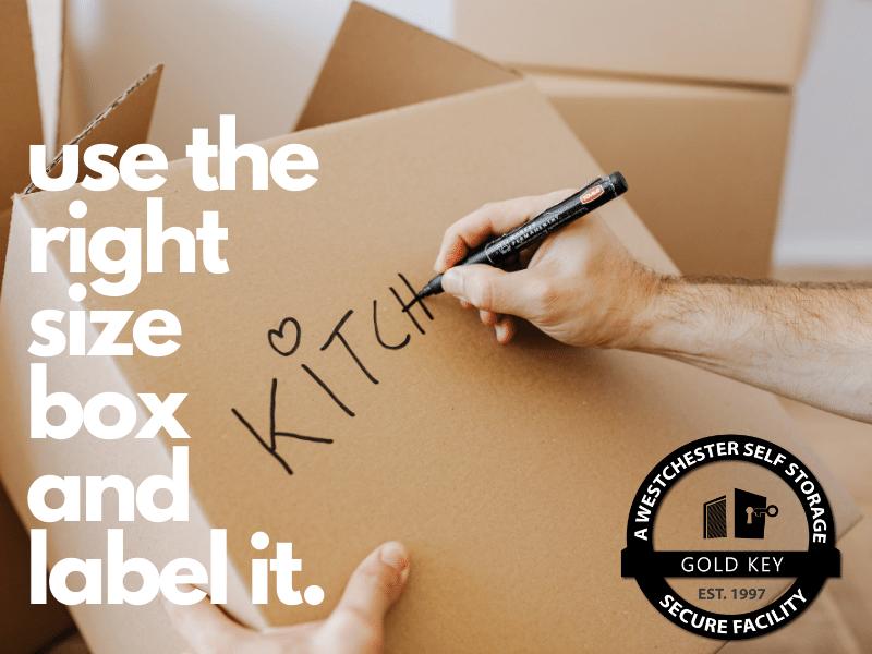 Storage Tips Lewisboro Use The Right Sized Box